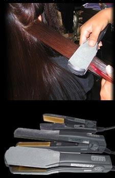 יישור השיער בתהליך החלקה יפנית