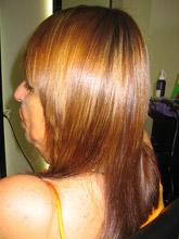 החלקה יפנית לשיער צבוע