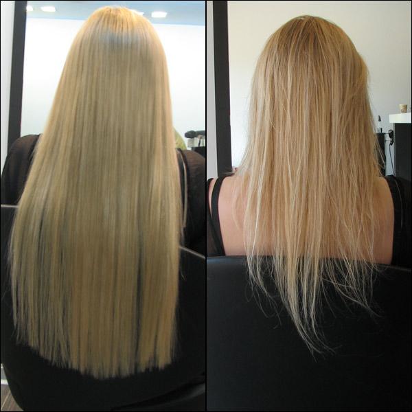 לפני ואחרי תוספות שיער
