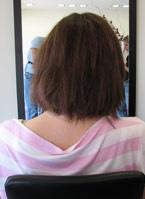 לפני תוספת שיער