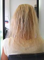 לפני הארכת שיער ומילוי שיער