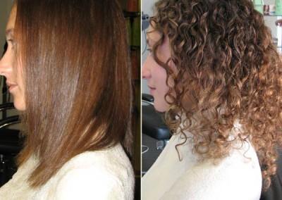 החלקה יפנית לשיער מתולתל
